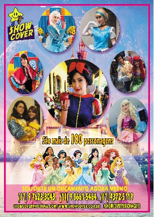 Foto 1 - Princesas - show cover personagens